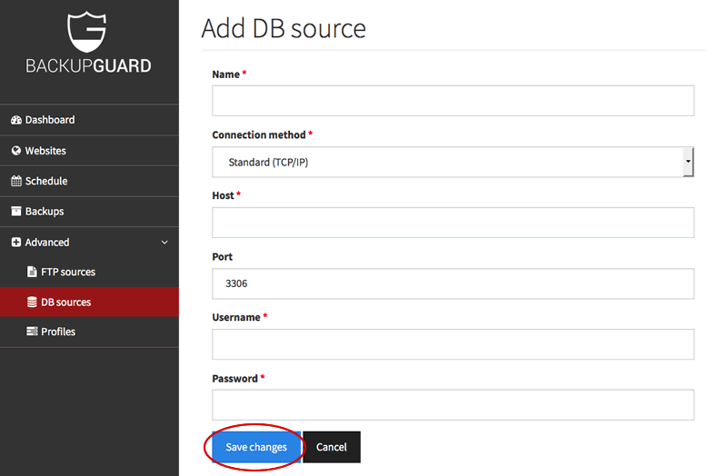 Create database source