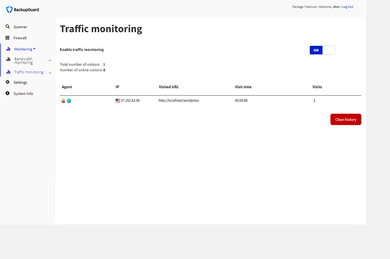 traffic monitoring