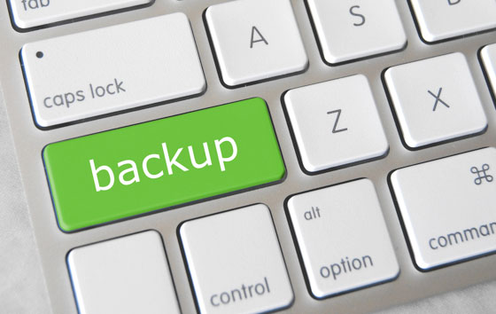 automated website backups button